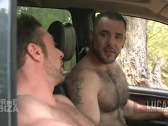 Sexy power-bottom Brandon Jones rides Nick Ford's hard cock outdoors. Posted by: Lucas Entetainment