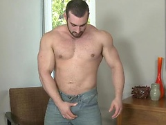 Jaxton Wheeler is one hung bodybuilder, with his sexy buzzcut, neatly trimmed beard and jock muscle body.. Posted by: Randy Blue