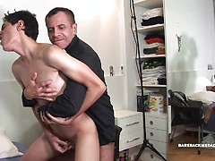 Sonny and Father Horatio. Posted by: Bareback Me Daddy