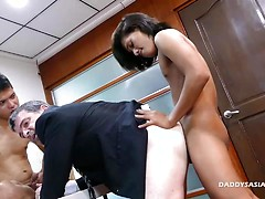 Office Sex With Daddy, Arjo, and Russel. Posted by: Daddy's Asians